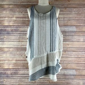 Luukaa Lagenlook Sleeveless Linen Tunic Dress 8